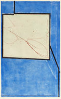 Fine Art - Work on Paper:Print, RICHARD DIEBENKORN (American, 1922-1993). Two Way II, 1982.Etching and aquatint in colors. 23-7/8 x 15 inches (60.6 x 3...