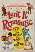 """Movie Posters:Comedy, Isn't It Romantic (Paramount, 1948). One Sheet (27"""" X 41"""") & Three Sheet (41"""" X 78""""). Comedy.. ... (Total: 2 Items)"""