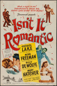 "Isn't It Romantic (Paramount, 1948). One Sheet (27"" X 41"") & Three Sheet (41"" X 78""). Comedy..."