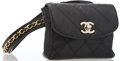 """Luxury Accessories:Accessories, Chanel Black Patent Quilted Leather Bag with Gold Hardware. Good Condition. 5"""" Width x 4.5"""" Height x 1"""" Depth. ..."""