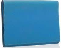 "Hermes Blue de France Courchevel Leather Agenda Cover Good Condition 3.5"" Width x 5"" Height x .5"""