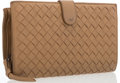 "Luxury Accessories:Accessories, Bottega Veneta Beige Intrecciato Leather Wallet. GoodCondition. 6.5"" Width x 4"" Height x 1"" Depth. ..."