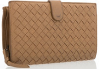 "Bottega Veneta Beige Intrecciato Leather Wallet Good Condition 6.5"" Width x 4"" Height"