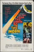 "Movie Posters:Science Fiction, From the Earth to the Moon (Warner Brothers, 1958). One Sheet (27""X 41"") & Lobby Cards (2) (11"" X 14""). Science Fiction.. ...(Total: 3 Items)"