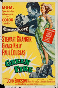 "Movie Posters:Adventure, Green Fire (MGM, 1954). One Sheet (27"" X 41"") & Lobby Cards (5)(11"" X 14""). Adventure.. ... (Total: 6 Items)"
