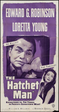 "Movie Posters:Crime, The Hatchet Man (Warner Brothers, R-1949). Three Sheet (41"" X 79""). Crime.. ..."