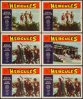 "Movie Posters:Action, Hercules & Others Lot (Warner Bros., 1959). Lobby Cards (9)(11"" X 14"") & One Sheet (27"" X 41""). Action.. ... (Total: 10Items)"