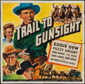 "Movie Posters:Western, Trail to Gunsight (Universal, 1944). Six Sheet (79"" X 79""). Western.. ..."