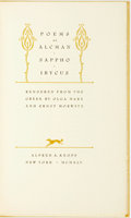 Books:Literature Pre-1900, Alcman, Sappho, et al. Olga Marx and Ernst Morwitz, translations.Poems of Alcman, Sappho, Ibycus. New York: Alfred ...