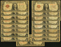 Small Size:Legal Tender Notes, Fr. 1500 $1 1928 Legal Tender Notes. Seventeen Examples. Good or Better.. ... (Total: 17 notes)