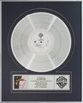 Music Memorabilia:Awards, ZZ Top Afterburner Platinum Record Award (Warner Brothers25342, 1985). ...