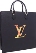 Luxury Accessories:Bags, Louis Vuitton Limited Edition Black Epi Leather Sac Fusion Bag withLCD Screen by Fabrizio Plessi, 3/88. Pristine Conditio...