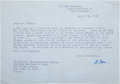 Autographs:Inventors, [Nobel Laureate]. Max Born Typed Letter Signed...