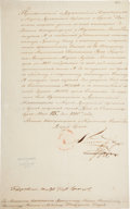 Autographs:Non-American, [Napoleon]. Tsar Alexander I of Russia Letter Signed... (Total: 2 Items)