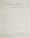 Autographs:U.S. Presidents, Andrew Johnson Letter Signed....