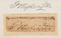 Autographs:U.S. Presidents, George Washington Signature...