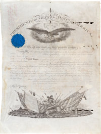 Abraham Lincoln Military Appointment Signed