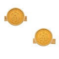 Estate Jewelry:Cufflinks, Coin, Gold Cuff Links. ...