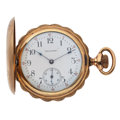 Timepieces:Pocket (post 1900), Lady Waltham Hunter's Case Pocket Watch. ...