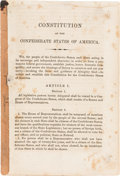 Miscellaneous:Booklets, Constitution of the Confederate States of America,...