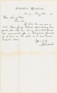 Abraham Lincoln Autograph Letter Signed