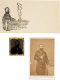 Miscellaneous:Ephemera, George Proctor Kane: Carte de Visite, Tintype, and Cover....(Total: 3 Items)