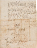 Autographs:Non-American, [Queen Elizabeth I]. Partial Document Signed by Members ofElizabeth's Council....