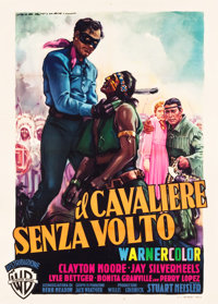 "The Lone Ranger (Warner Brothers, 1956). Italian 2 - Foglio (39.5"" X 55"")"