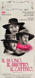 "Movie Posters:Western, The Good, the Bad and the Ugly (PEA, 1966). Italian Locandina (12"" X 26.75"").. ..."