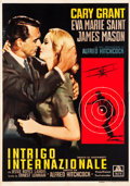 "Movie Posters:Hitchcock, North by Northwest (MGM, 1959). Italian 4 - Foglio (54.25"" X77.5"").. ..."
