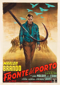 "On the Waterfront (Columbia, 1954). Italian 4 - Foglio (55"" X 77.75"")"