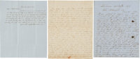 Three Mid-Nineteenth Century Letters with Whaling Content