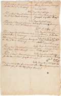 Autographs:Military Figures, [Valley Forge] and [3rd New Hampshire Regiment]. Continental Army Stocking Receipts....