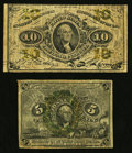 Fractional Currency:Second Issue, 5¢ and 10¢ Fractional Very Good.. ... (Total: 2 notes)