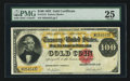 Large Size:Gold Certificates, Fr. 1213 $100 1882 Gold Certificate PMG Very Fine 25.. ...