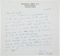 Autographs:U.S. Presidents, [John F. Kennedy]. Malcolm Perry Autograph Letter Signed....(Total: 2 Items)