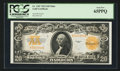 Large Size:Gold Certificates, Fr. 1187 $20 1922 Mule Gold Certificate PCGS Gem New 65PPQ.. ...