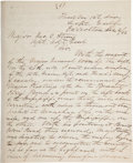 Autographs:Military Figures, [Civil War]. Thomas W. Sherman Military Report Signed...