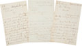 Autographs:Military Figures, Winfield Scott Autograph Letters (3) Signed... (Total: 3 Items)