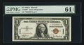 Small Size:World War II Emergency Notes, Fr. 2300* $1 1935A Hawaii Silver Certificate. PMG ChoiceUncirculated 64 EPQ.. ...