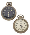 Timepieces:Pocket (post 1900), Bull's Eye & Westclox Scotty Watches Runners. ... (Total: 2Items)