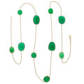 Estate Jewelry:Necklaces, Chrysoprase, Chalcedony, Gold Necklace . ...