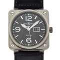 Timepieces:Wristwatch, Bell & Ross Over Sized Automatic Wristwatch . ...