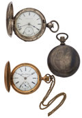 Timepieces:Pocket (post 1900), Three Hunter's Cases For Parts Or Repair. ... (Total: 3 Items)