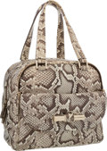 "Luxury Accessories:Bags, Jimmy Choo Natural Python Justine Bag. Very Good Condition.9.5"" Width x 9"" Height x 6"" Depth. ..."