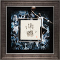 Basketball Collectibles:Others, Circa 2010 Michael Jordan Signed Handprint--UDA Limited EditionRarity....