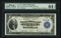 Fr. 714 $1 1918 Federal Reserve Bank Note PMG Choice Uncirculated 64 EPQ