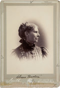 Autographs:Inventors, Clara Barton Cabinet Card Signed....