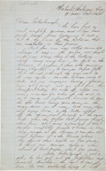 Autographs:Military Figures, [Battle of Port Royal] and [Samuel DuPont]. Fair Copy of a Letter to Admiral Louis M. Goldsborough....