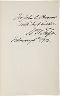 Autographs:U.S. Presidents, William H. Taft Inscribed Copy of Political Issues and Outlooks...